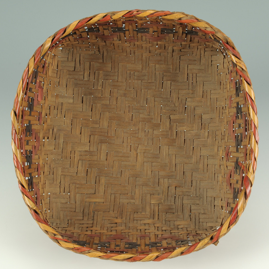 Lot 379: Cherokee Rivercane Basket, Low Form