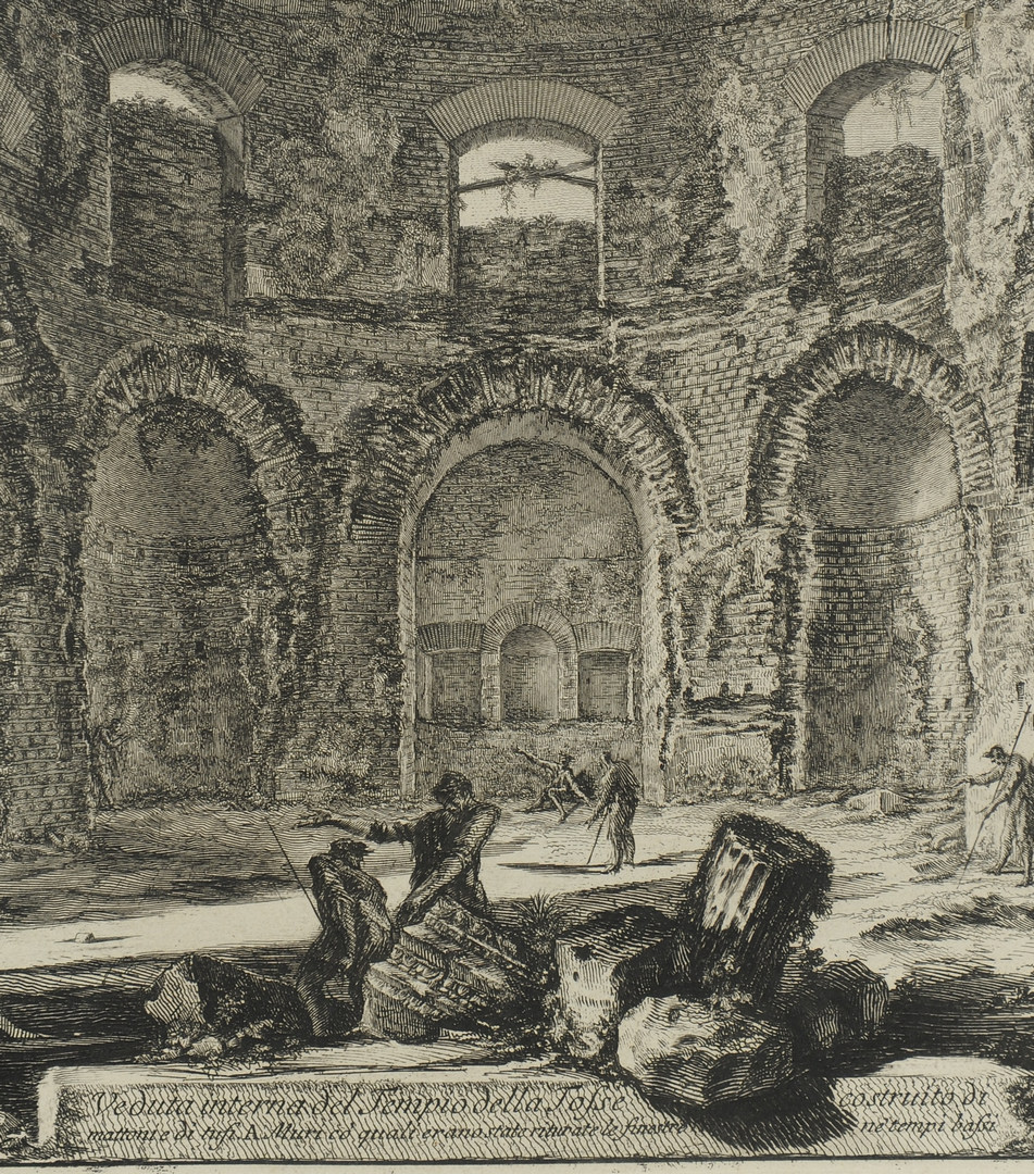 Lot 37: Two Giovanni B.Piranesi etchings, interior scenes