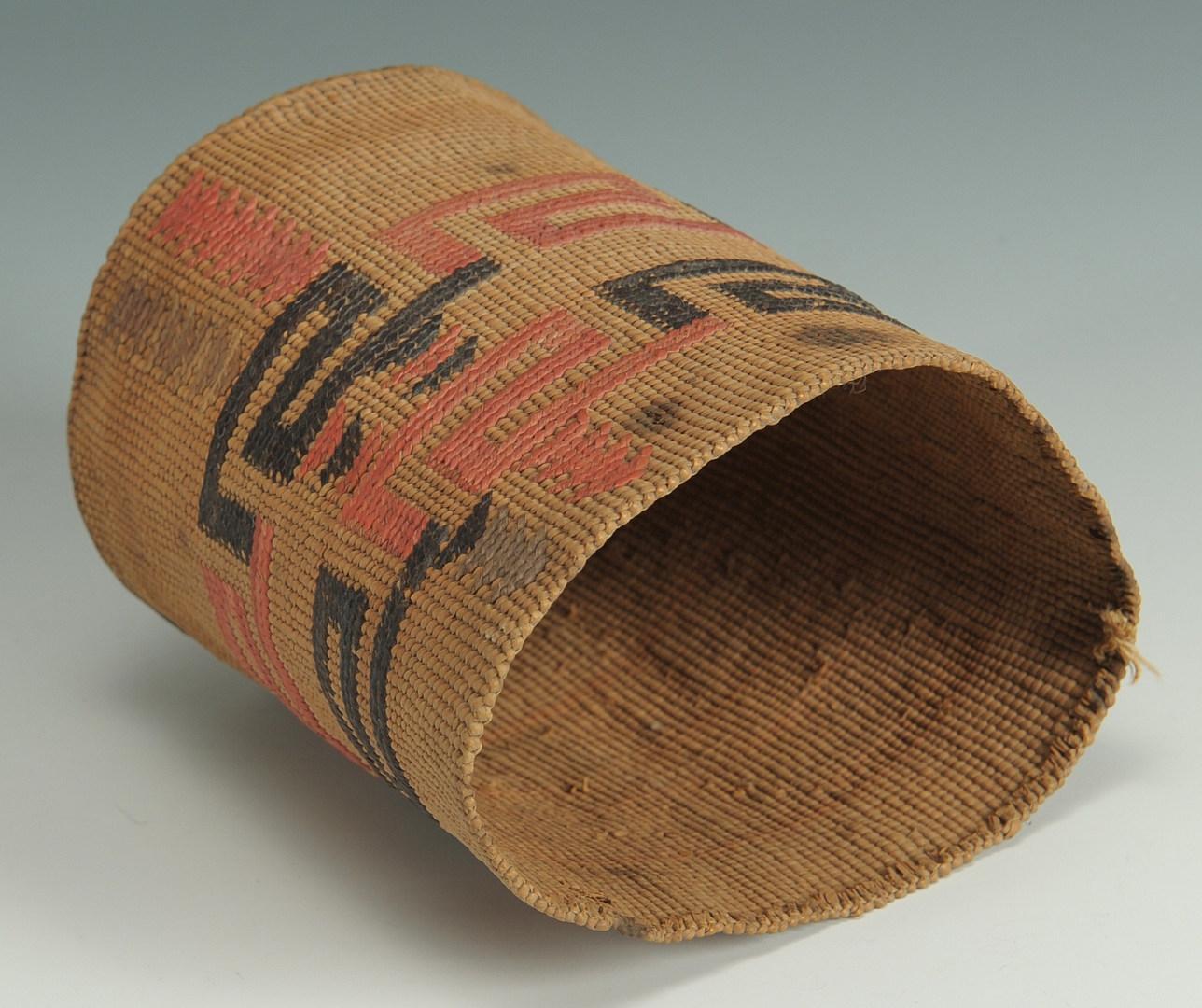 Lot 380: Native American Northwest Coast Woven Basket