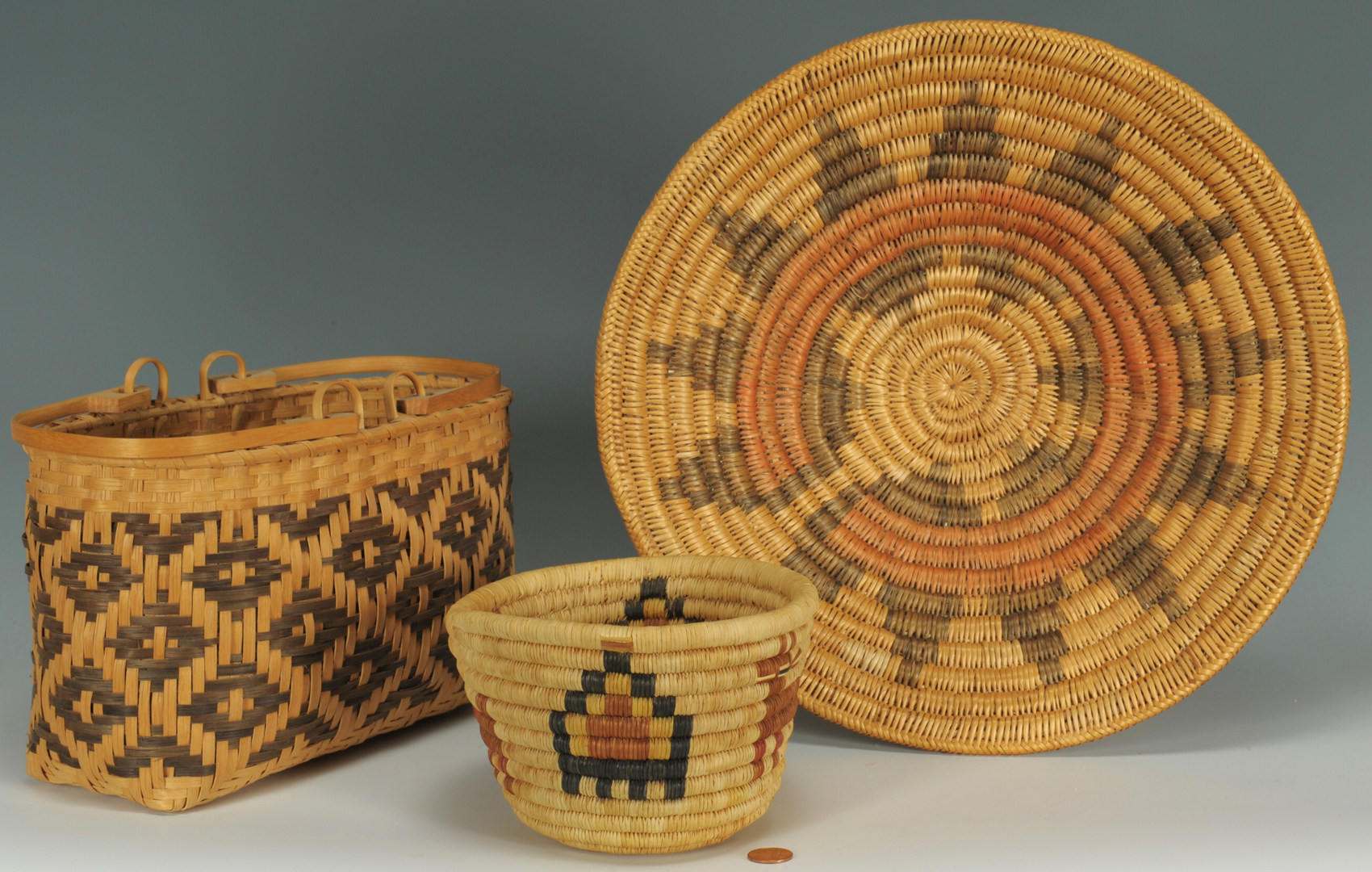 Lot 381: 3 Native American Baskets
