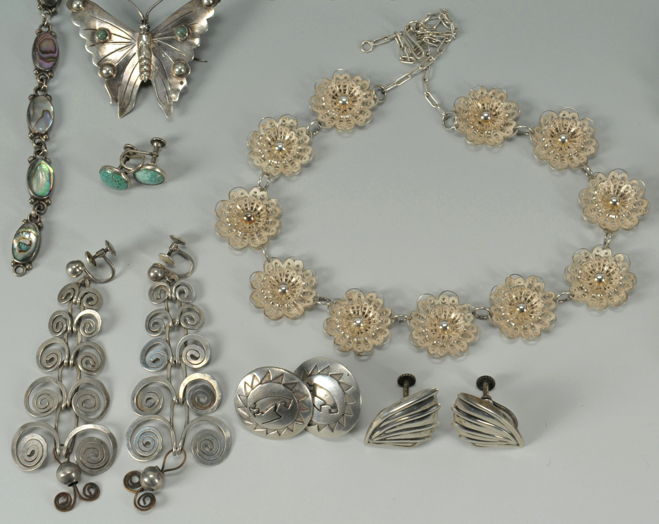 Lot 387: Large Group of Southwestern Sterling Jewelry