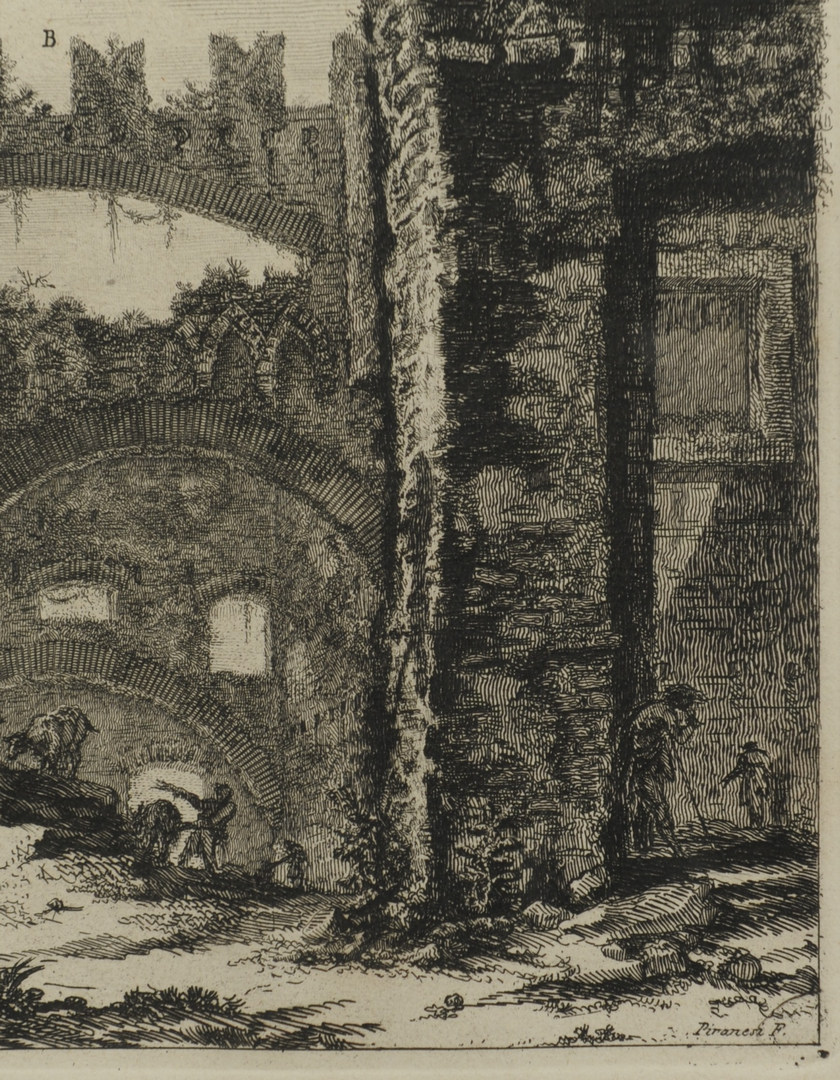Lot 38: Two Giovanni B.Piranesi etchings, exterior scenes