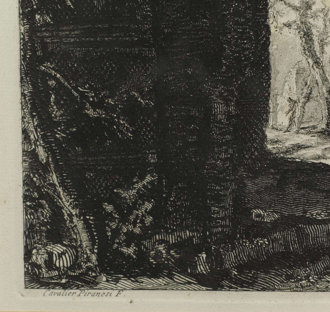 Lot 38: Two Giovanni B.Piranesi etchings, exterior scenes