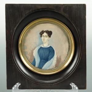 Lot 39: Miniature Portrait on Ivory of a Lady