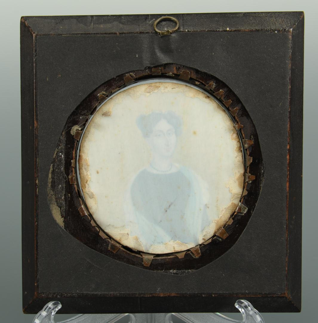 Lot 39: Miniature Portrait on Ivory of a Lady