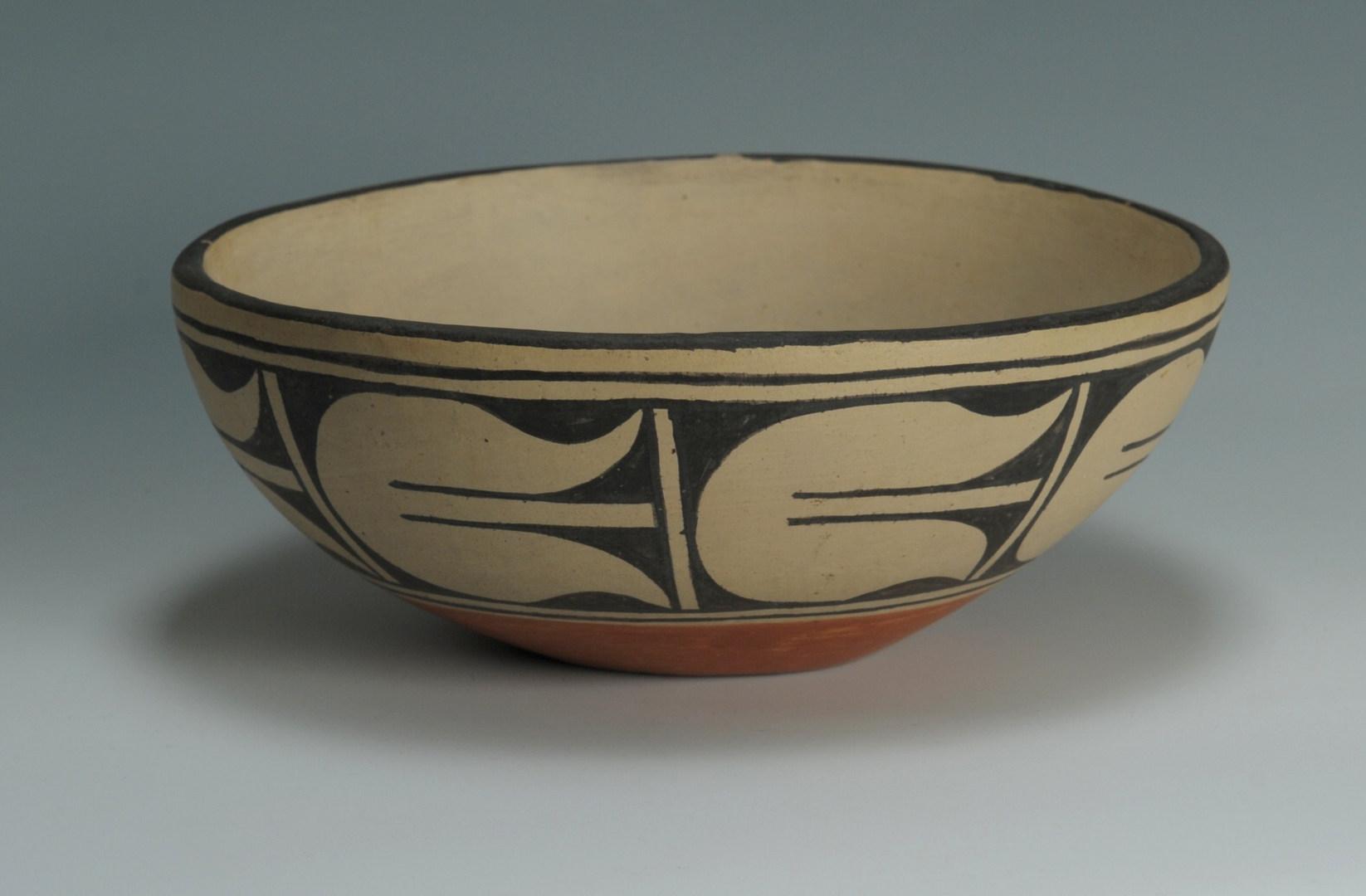 Lot 400: Santa Domingo bowl, basket and vase, Melchor