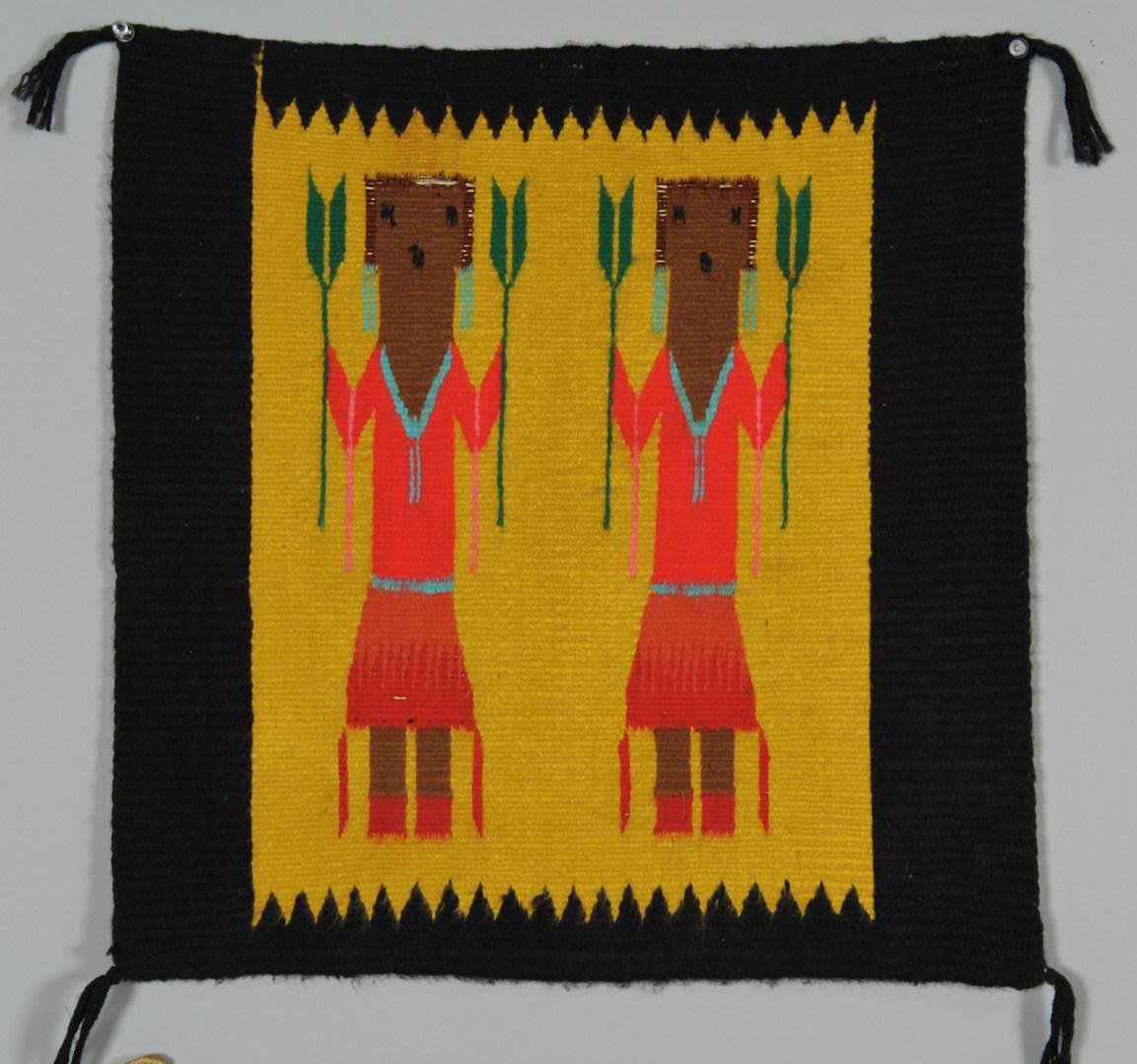 Lot 406: 3 Navajo Rugs and 1 Weaving: Ye'ii, Chinle
