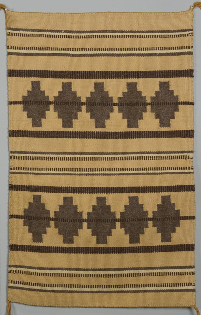Lot 407: 3 Navajo Rugs: Eyedazzler, Chinle, Geometric