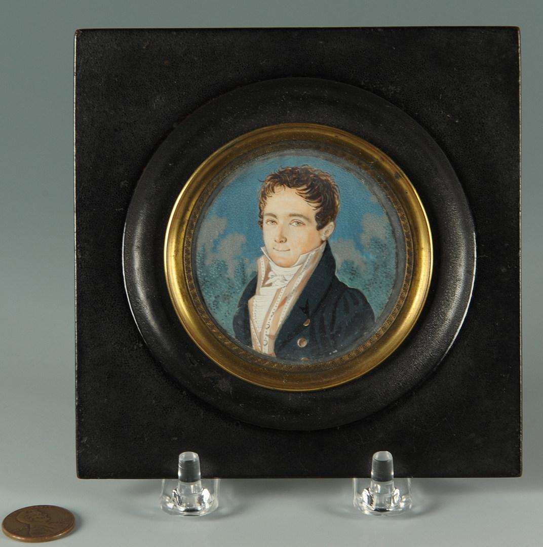 Lot 40: German school portrait miniature of Carl Storck