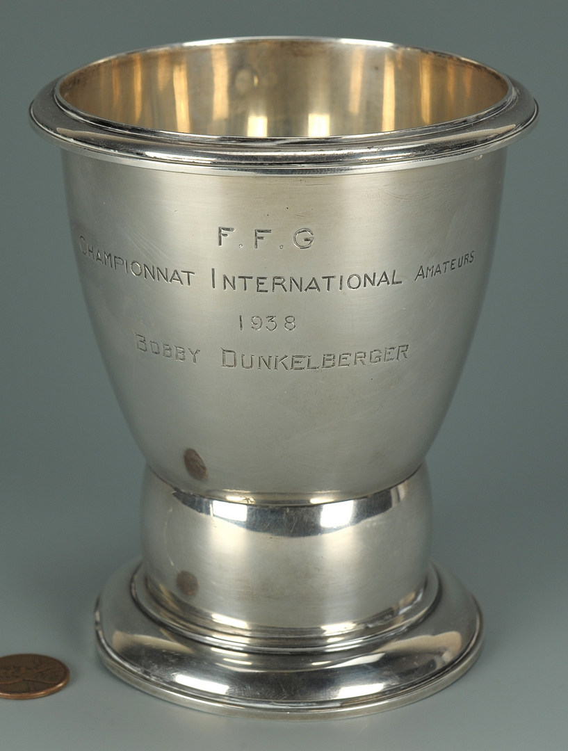 Lot 412: Sterling Golf Trophy Cup by Jean E. Puiforcat