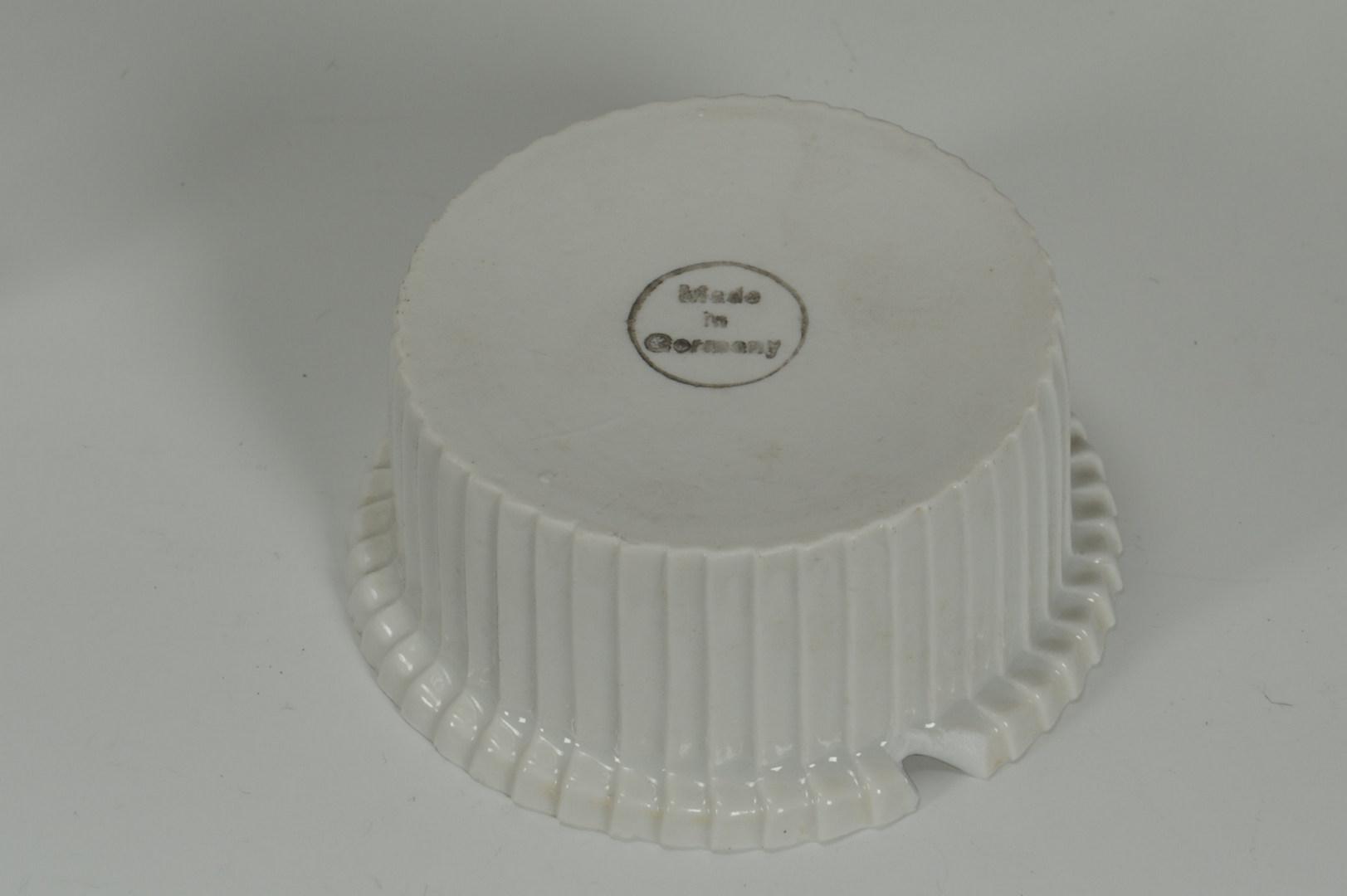 Lot 419: Set of 12 Gorham sterling and porcelain ramekins
