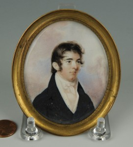 Lot 41: 19th cent. Portrait Minature of Dr. David Wharry