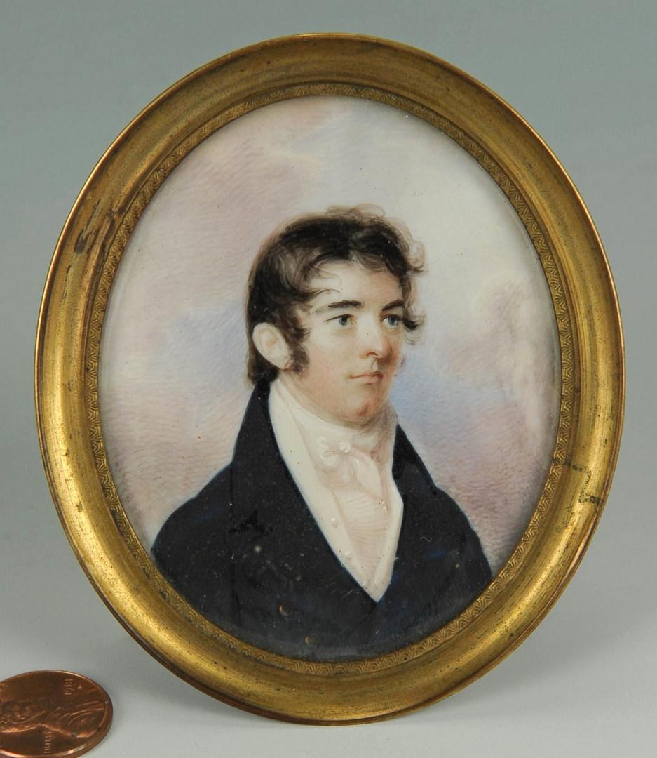 Lot 41: 19th cent. Portrait Minature of Dr. David Wharry
