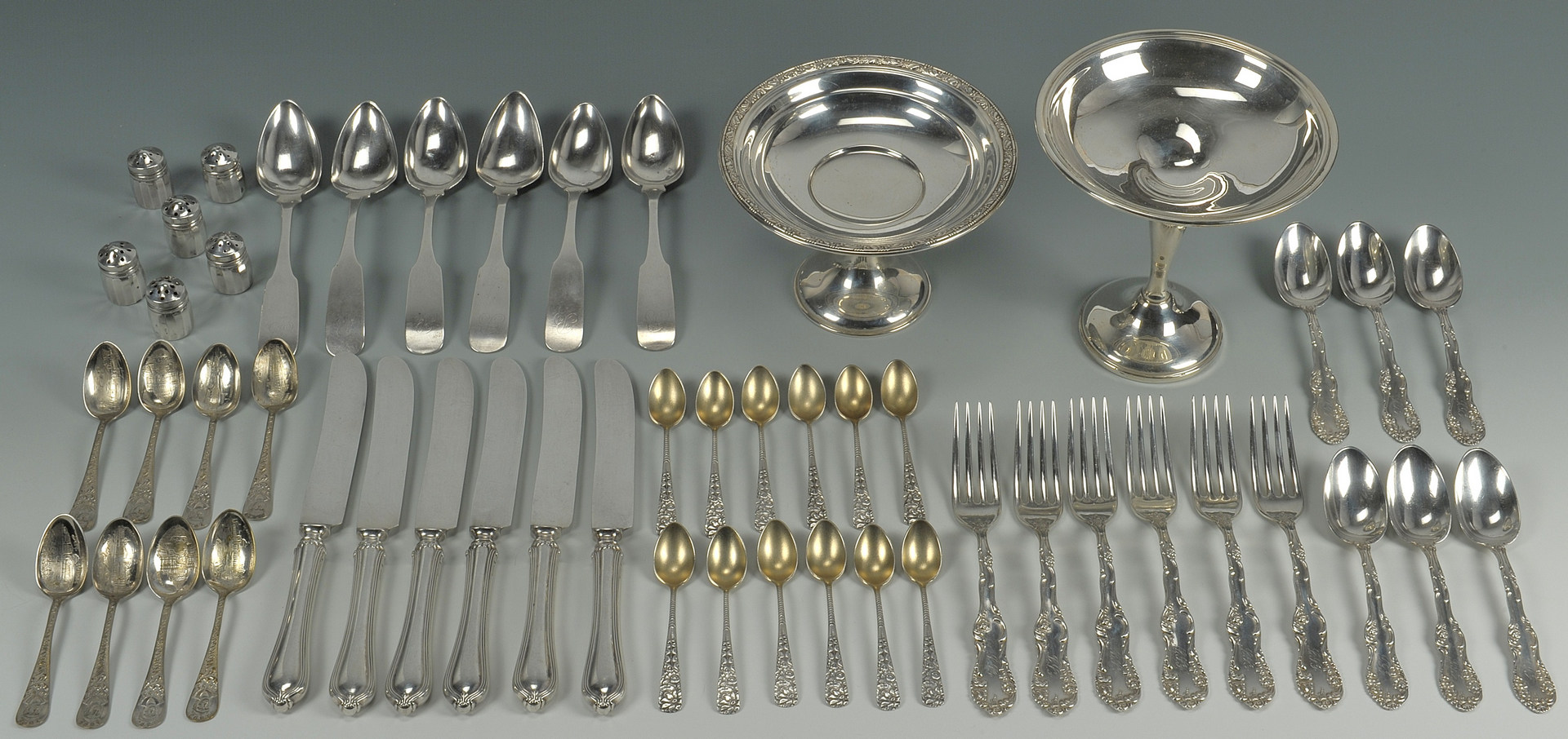 Lot 425: Group Sterling & Coin Silver, incl. Towle & Gorham