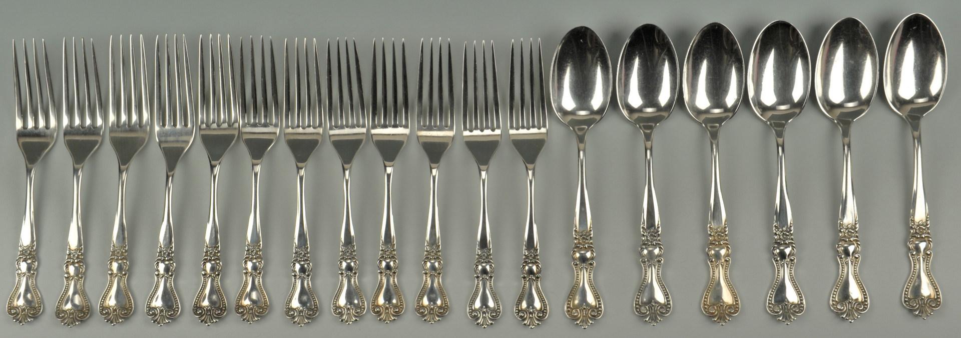 Lot 427: Partial set Fessenden Sterling Flatware, 18 pieces