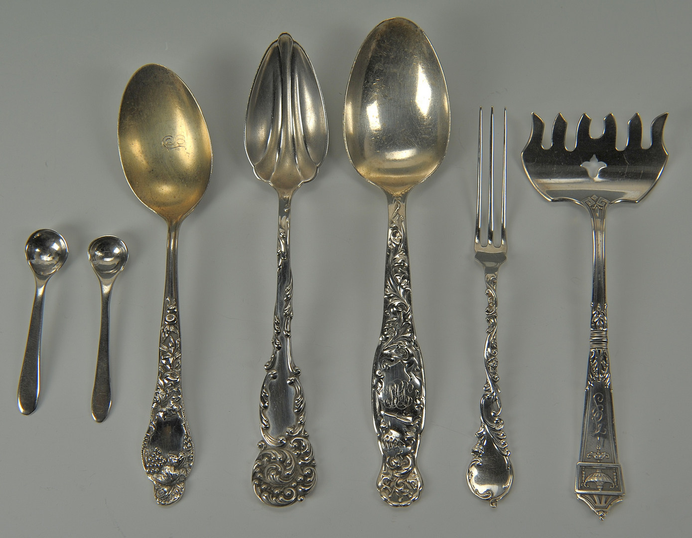 Lot 431: 31 Small Pieces Of Flatware inc. Tiffany, Geo III