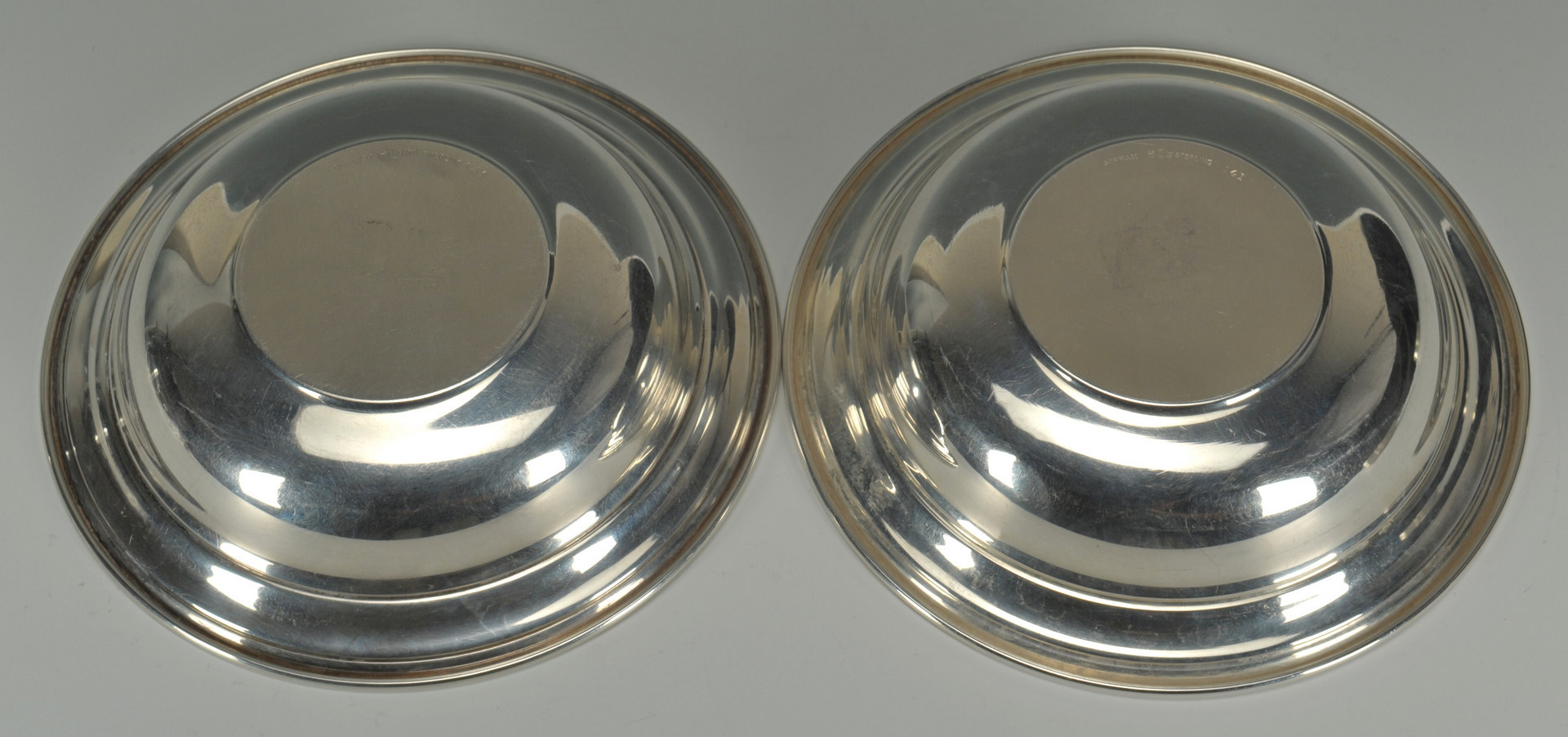 Lot 441: 23 Sterling silver butter pat plates & 2 candy dis