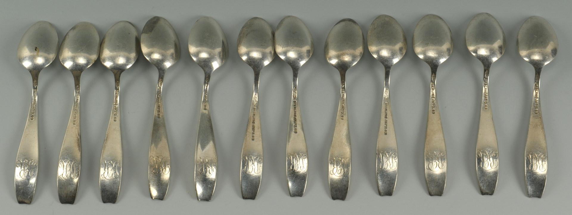 Lot 442: 12 Shiebler Flora Demitasse Spoons
