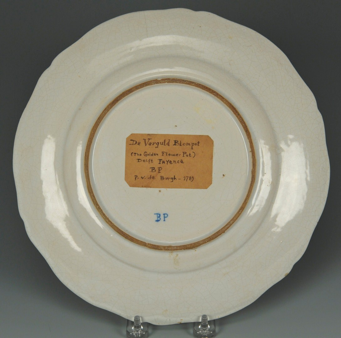 Lot 444: Polychrome Delft or Faience Armorial Plate