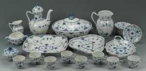 Lot 445: Royal Copenhagen Blue/White Porcelain, 25 pcs.