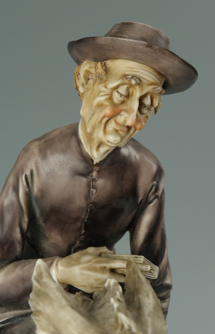 Lot 446: A. Borsato Italian Porcelain Figure