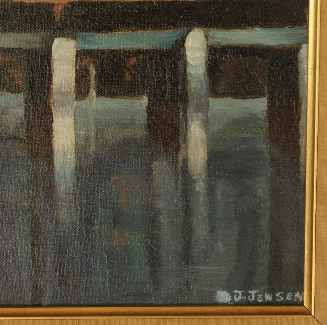 Lot 450: Japanese Landscape Oil on Board