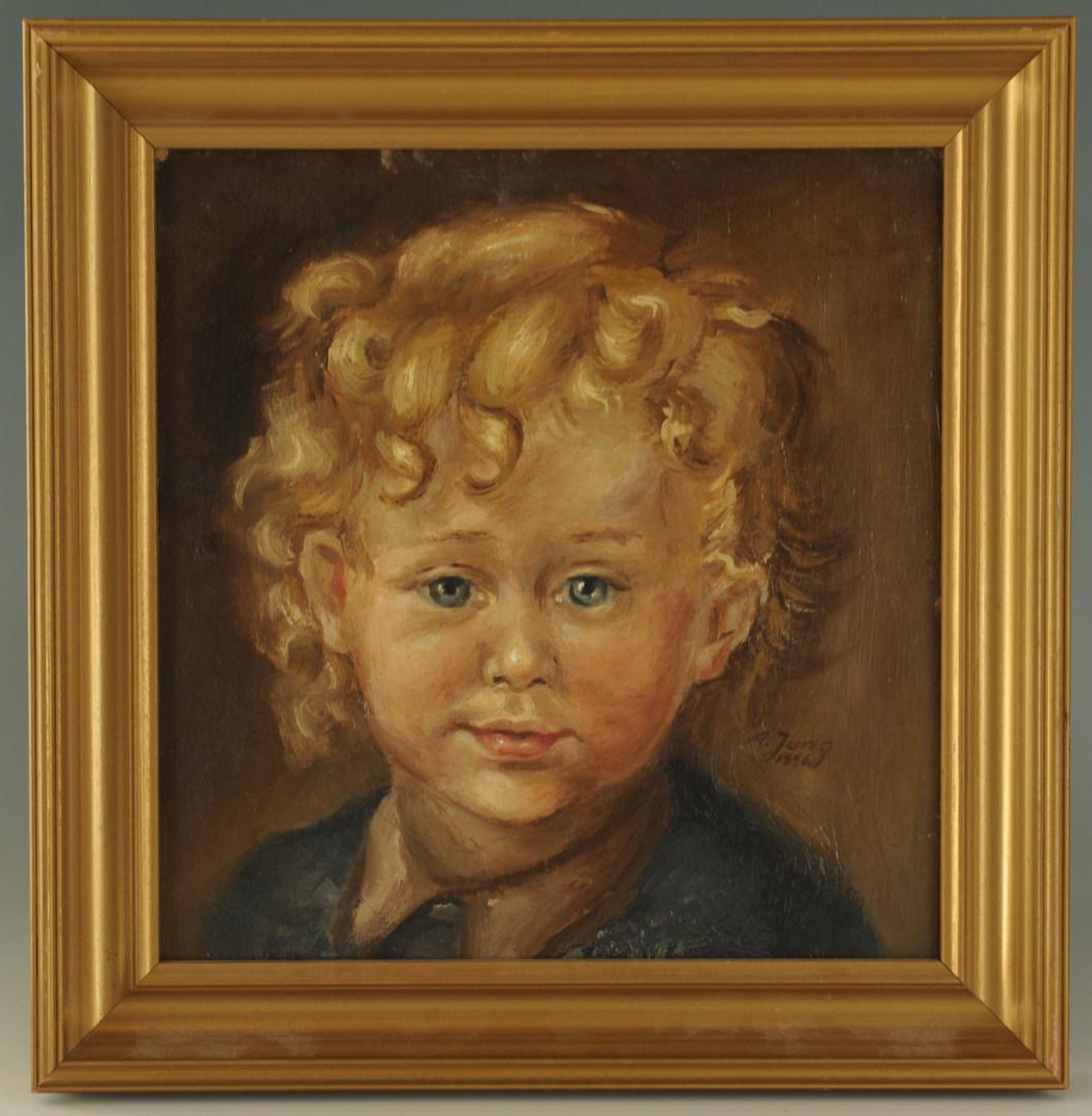 Lot 451: A. Jung Portrait of a Young Boy