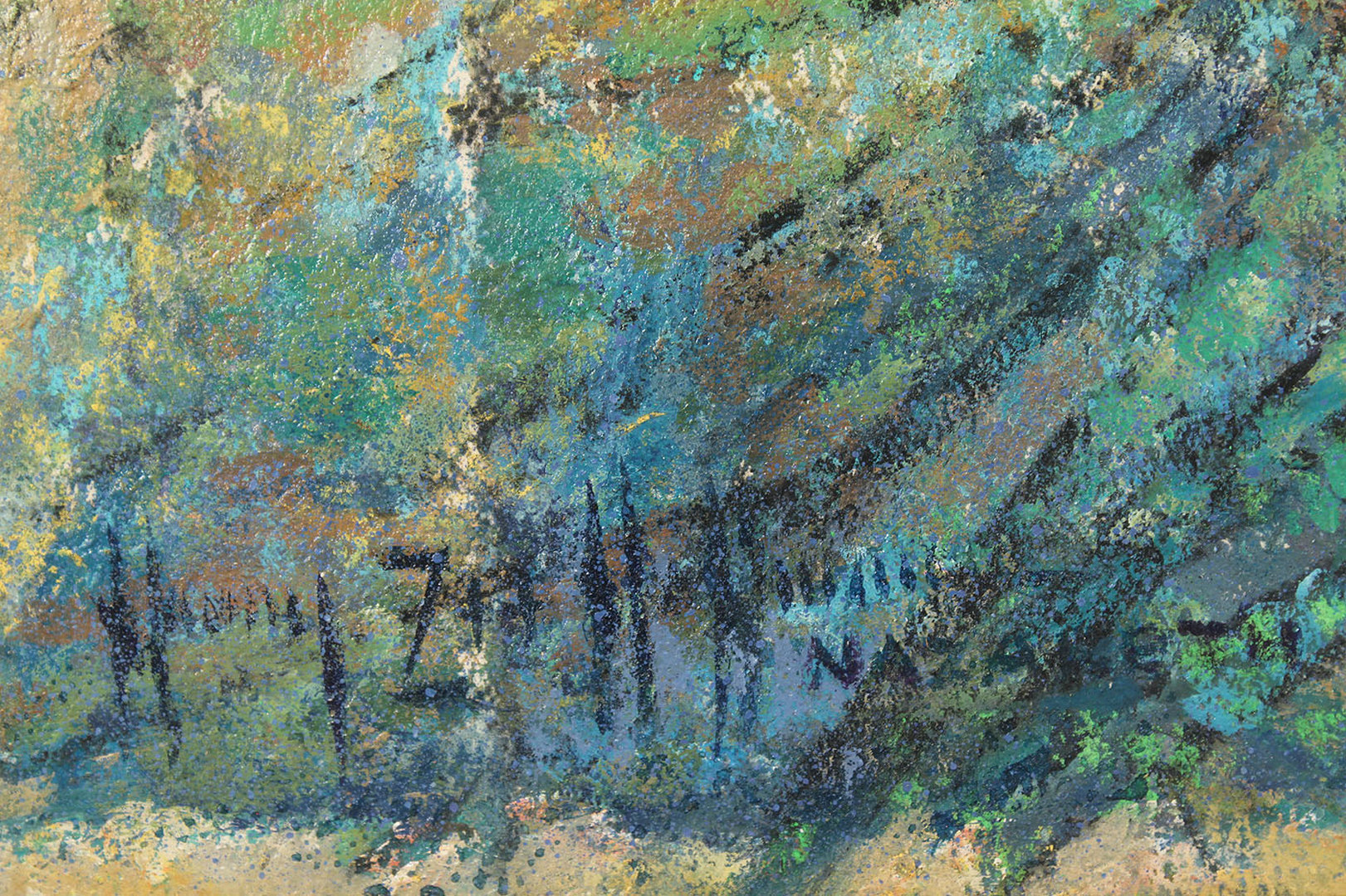 "Lot 453: Pastel titled ""Nazareth"", Harry Zee Hoffman"
