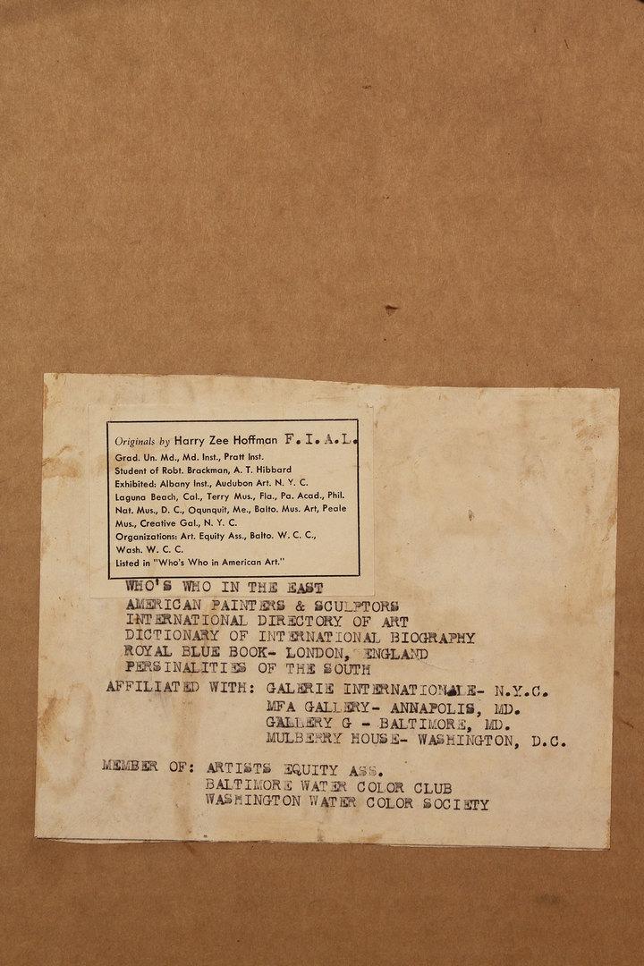 "Lot 453: Pastel titled ""Nazareth"", Harry Zee Hoffman"