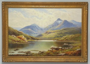 Lot 454: British Oil on Canvas Landscape, Norman B. Wilson