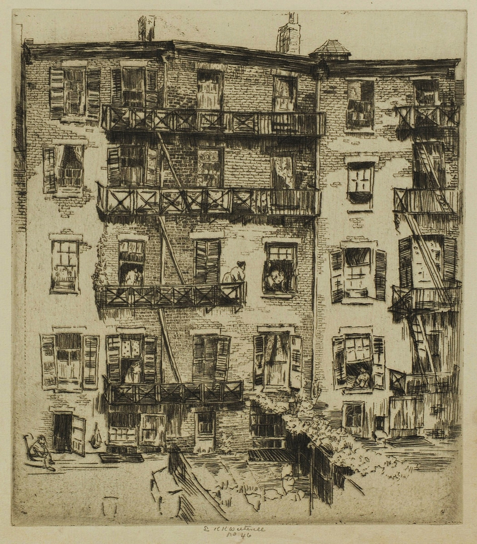 Lot 459: 4 etchings By Ernest Roth & others