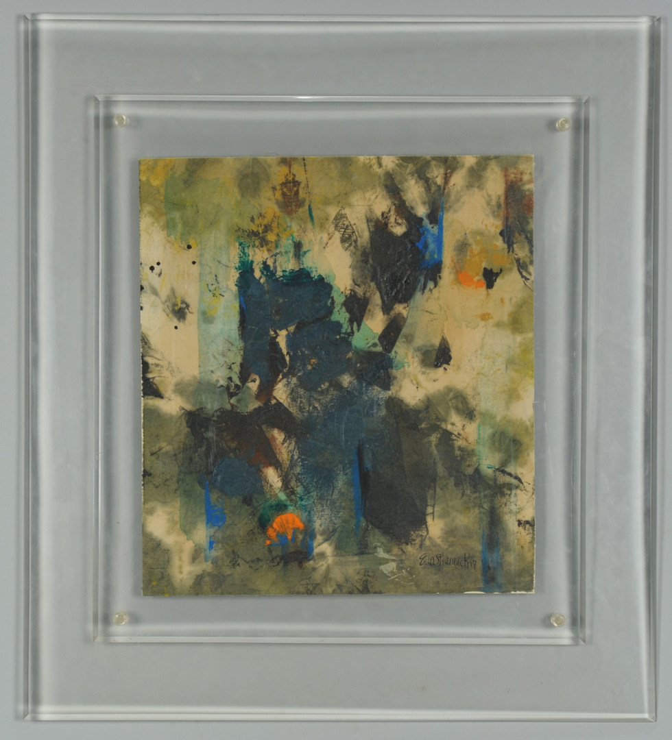 Lot 462: Abstract Watercolor on paper, E. W. Shumacker