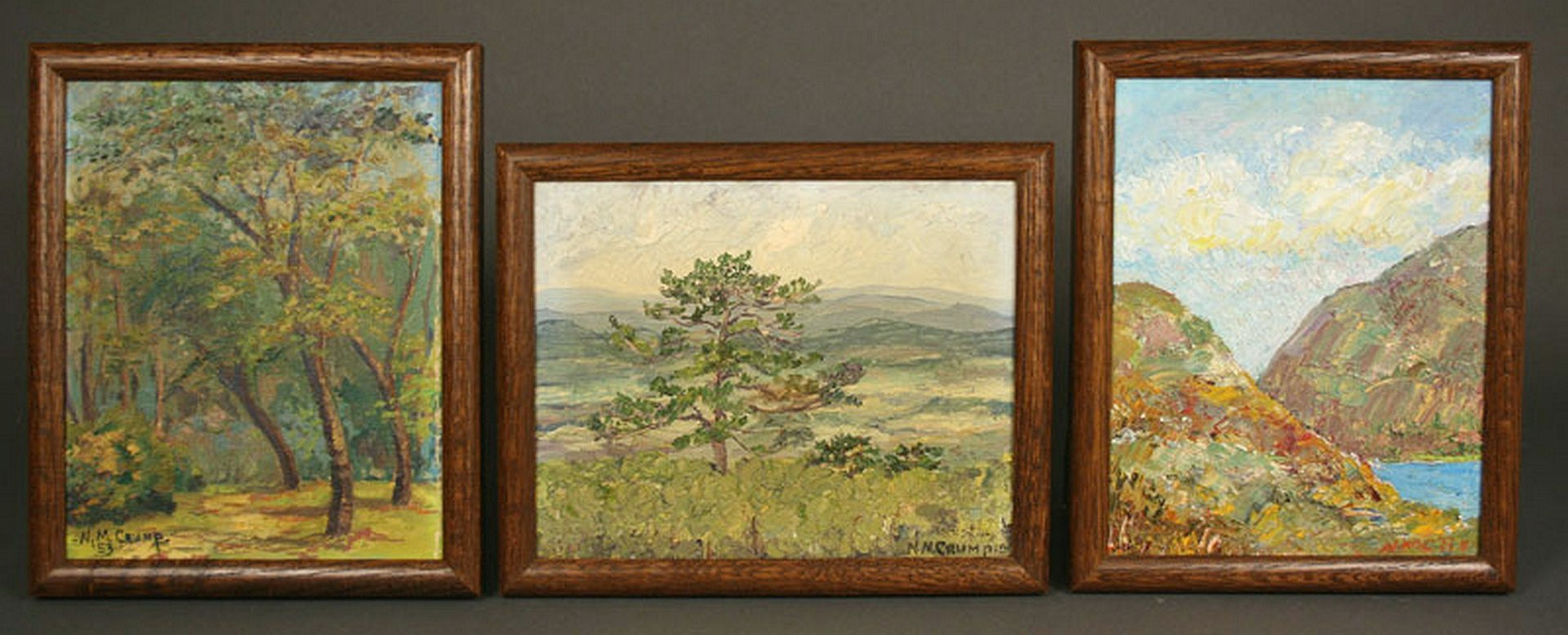 Lot 464: 3 N.M. Crump Southern Oil Paintings inc. Louisiana