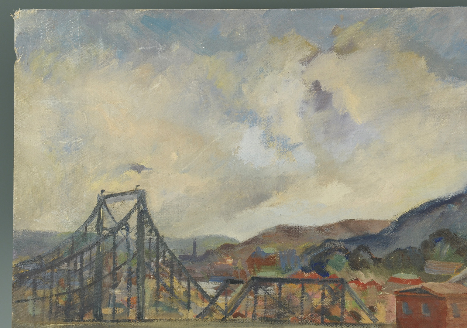 Lot 466: Maryland Landscape painting, oil on board