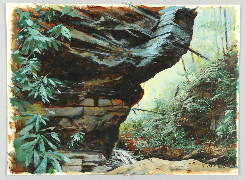 Lot 467: Three James Caulfield Landscapes, 20th c.