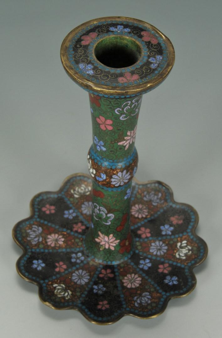 Lot 469: Asian Decorative Metal inc. Cloisonne, 4 pcs.