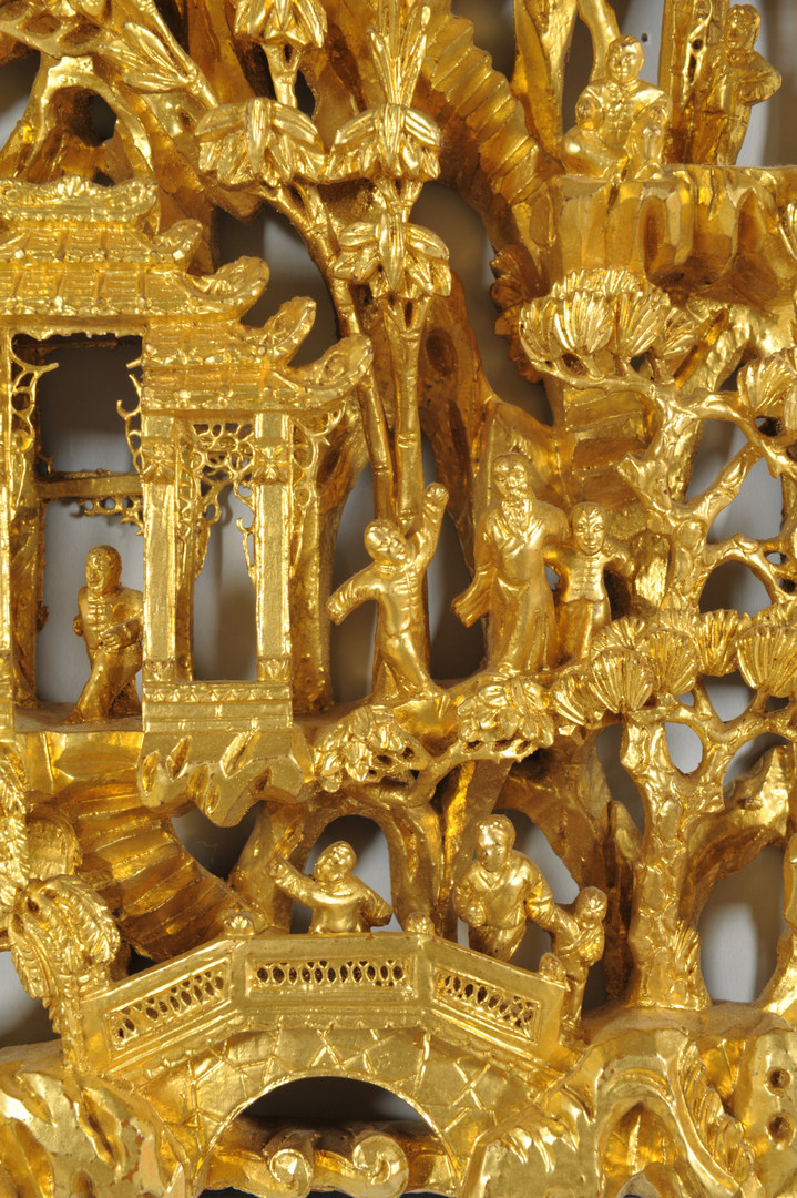 Lot 470: Chinese Carved Gilt-wood Frieze Panel