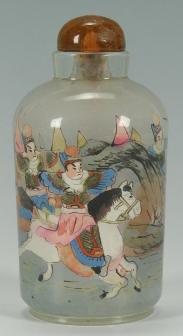 Lot 471: 3 Chinese Snuff Bottles & Japanese Netsuke