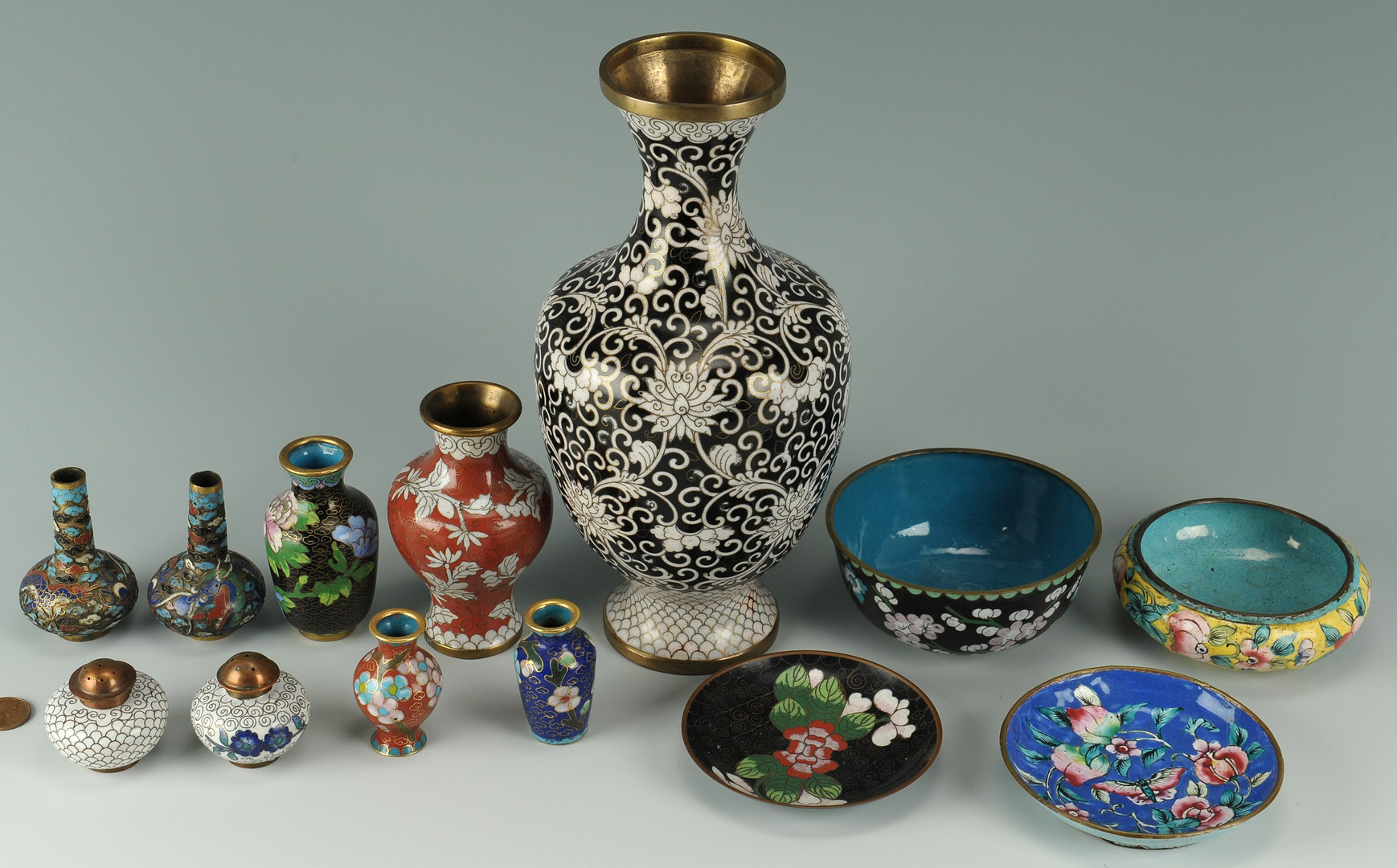 Lot 473: Grouping of Chinese Cloisonne, 13 pcs.