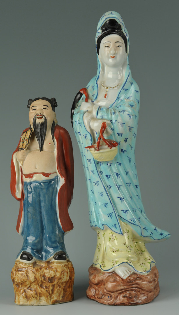 Lot 488: 11 Chinese Porcelain Figurals