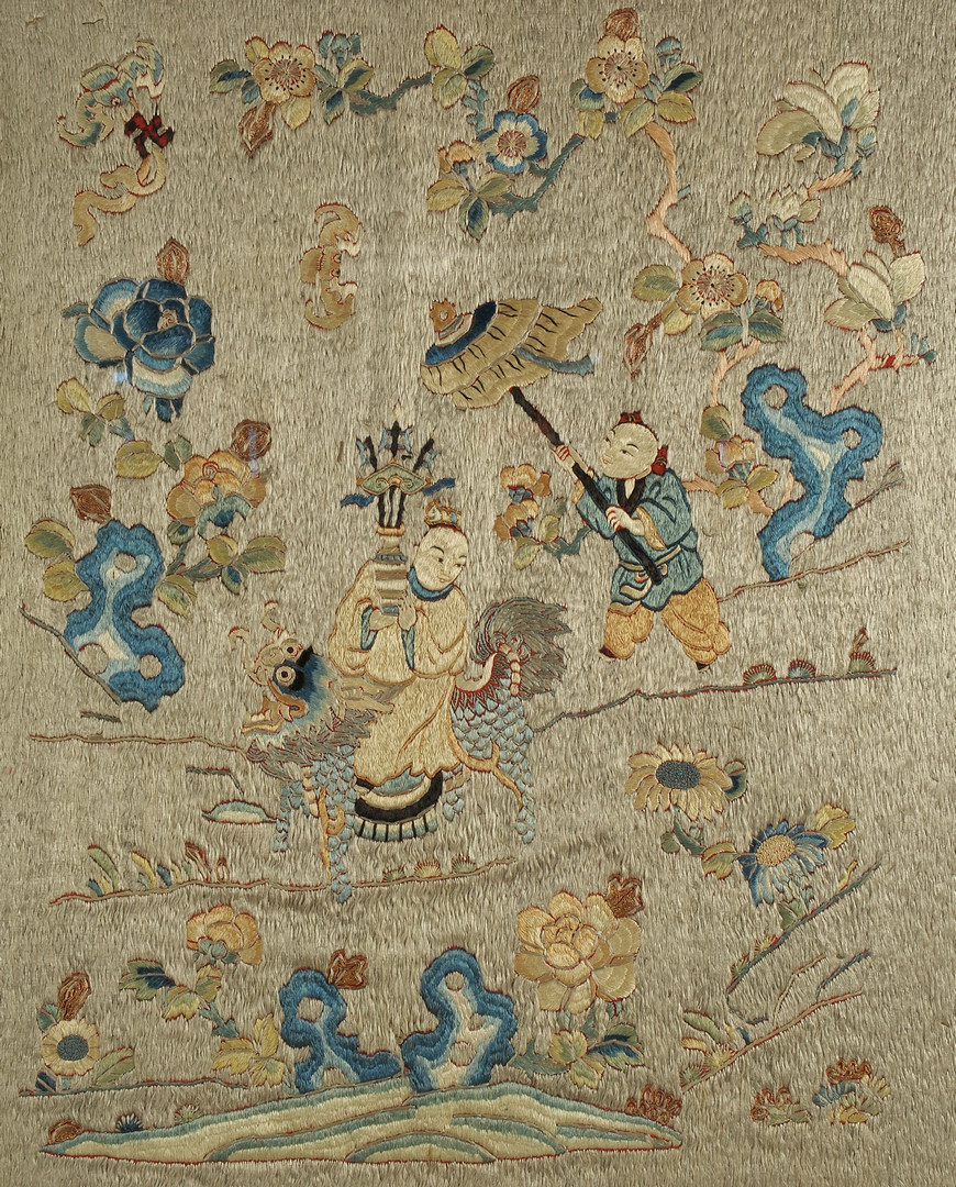 Lot 490 Framed Chinese Embroidery On Silk