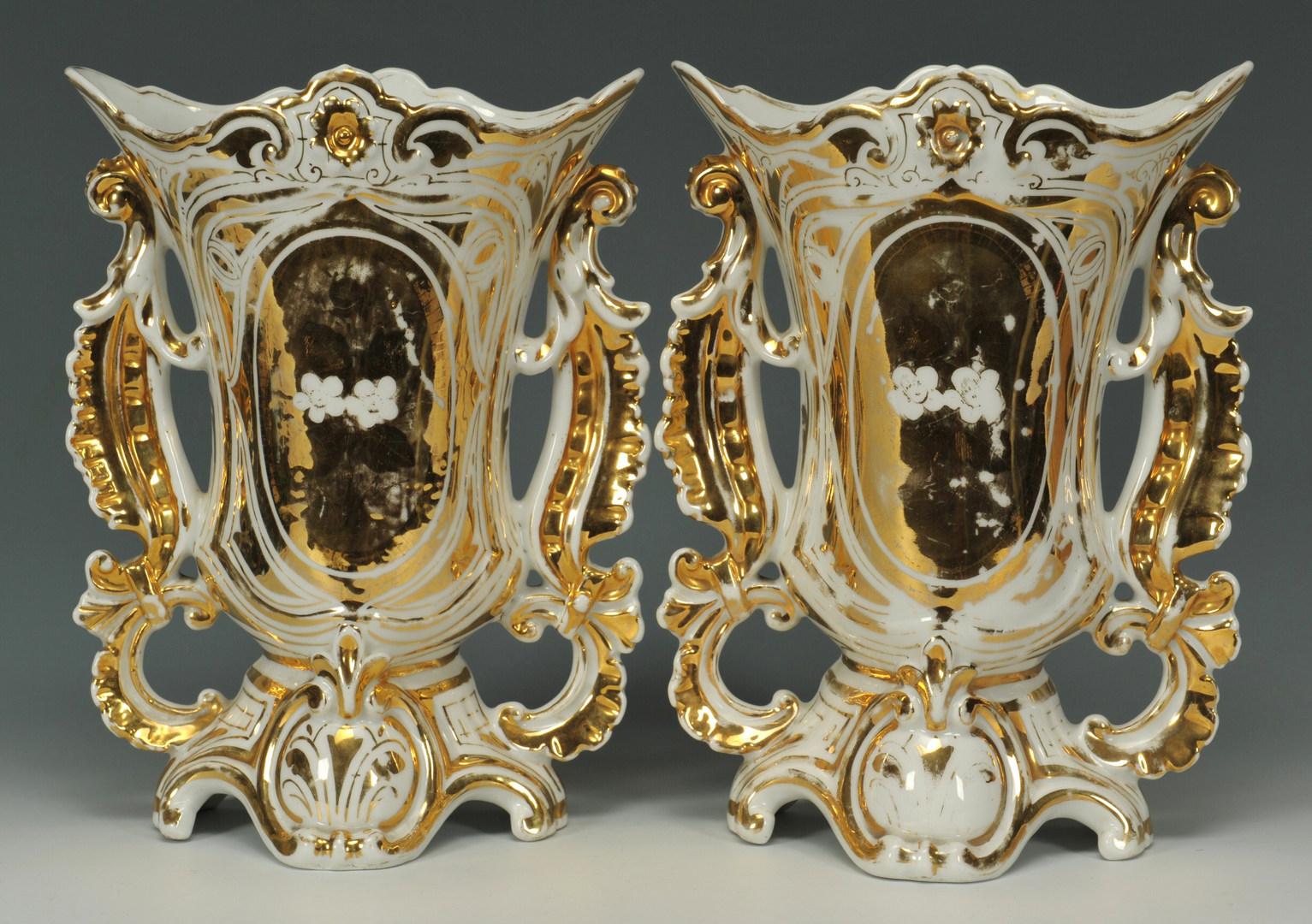 Lot 498: Old Paris Three Piece Garniture Set
