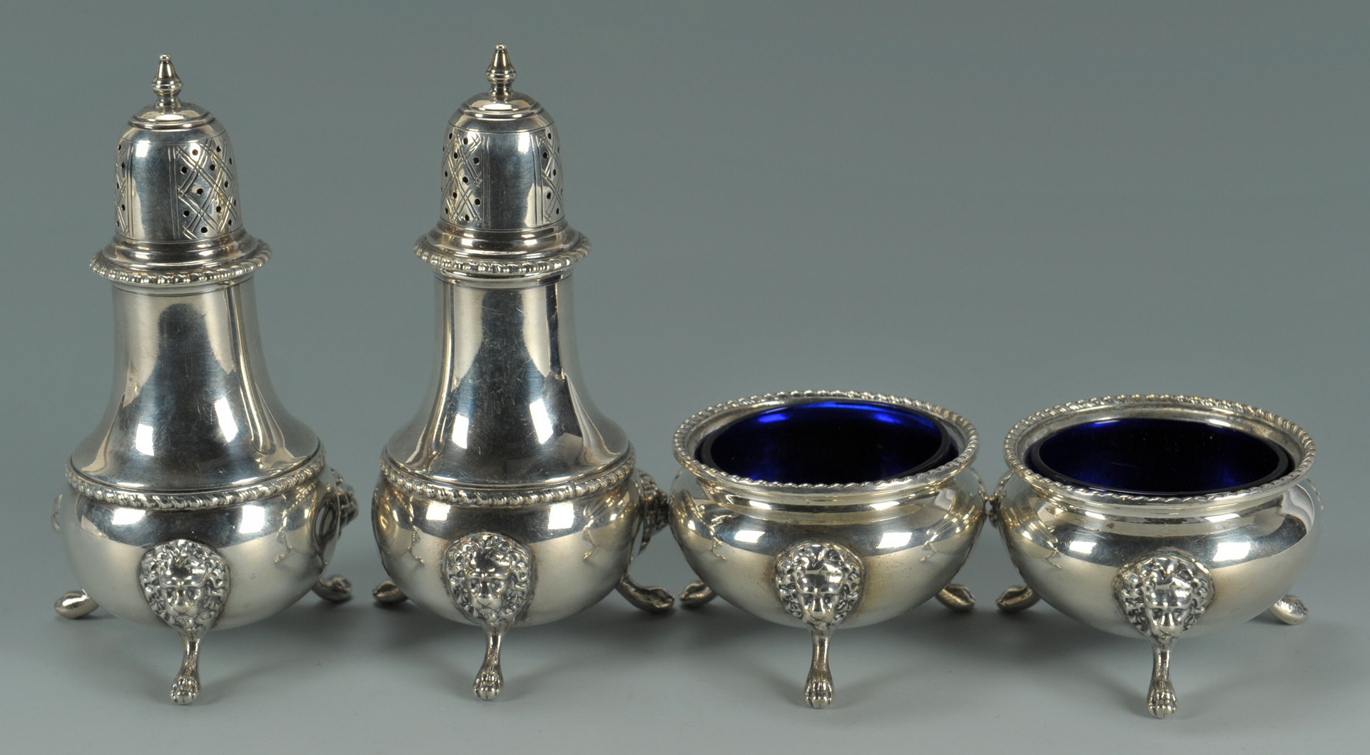 Lot 499: Silver salt items and assorted flatware, 12 pcs