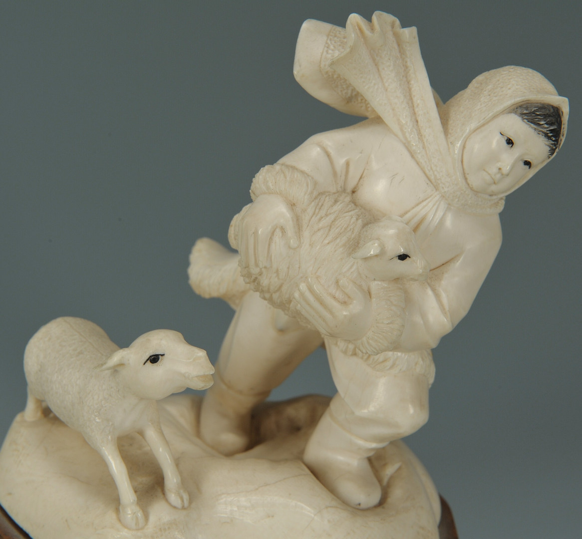Lot 4: Chinese Cultural Revolution Ivory Figure of Child