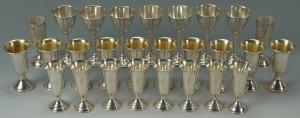 Lot 503: 29 sterling silver cordials