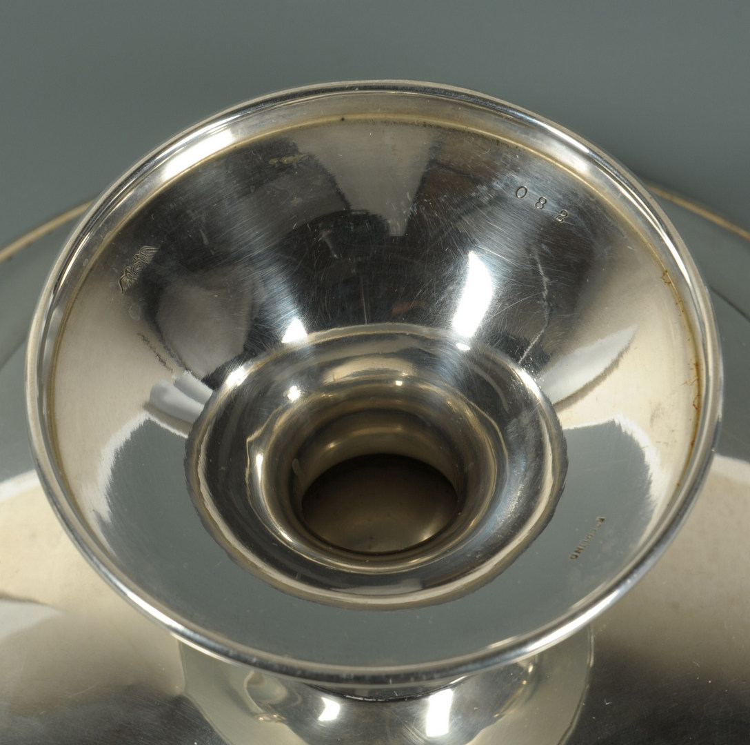 Lot 509: 7 pieces Sterling silver hollowware