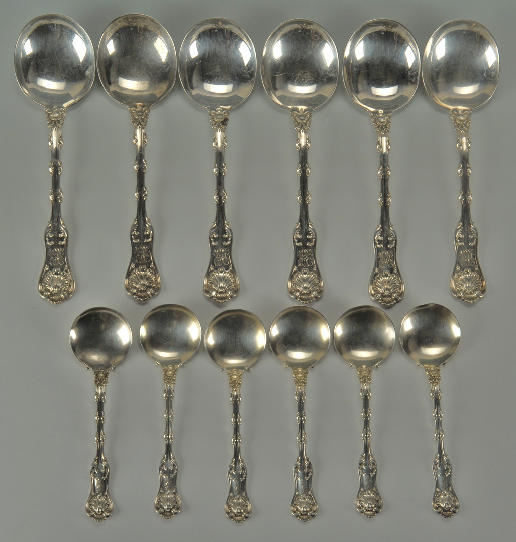 Lot 511: 12 Whiting Imperial Queen Gumbo & Cream Spoons
