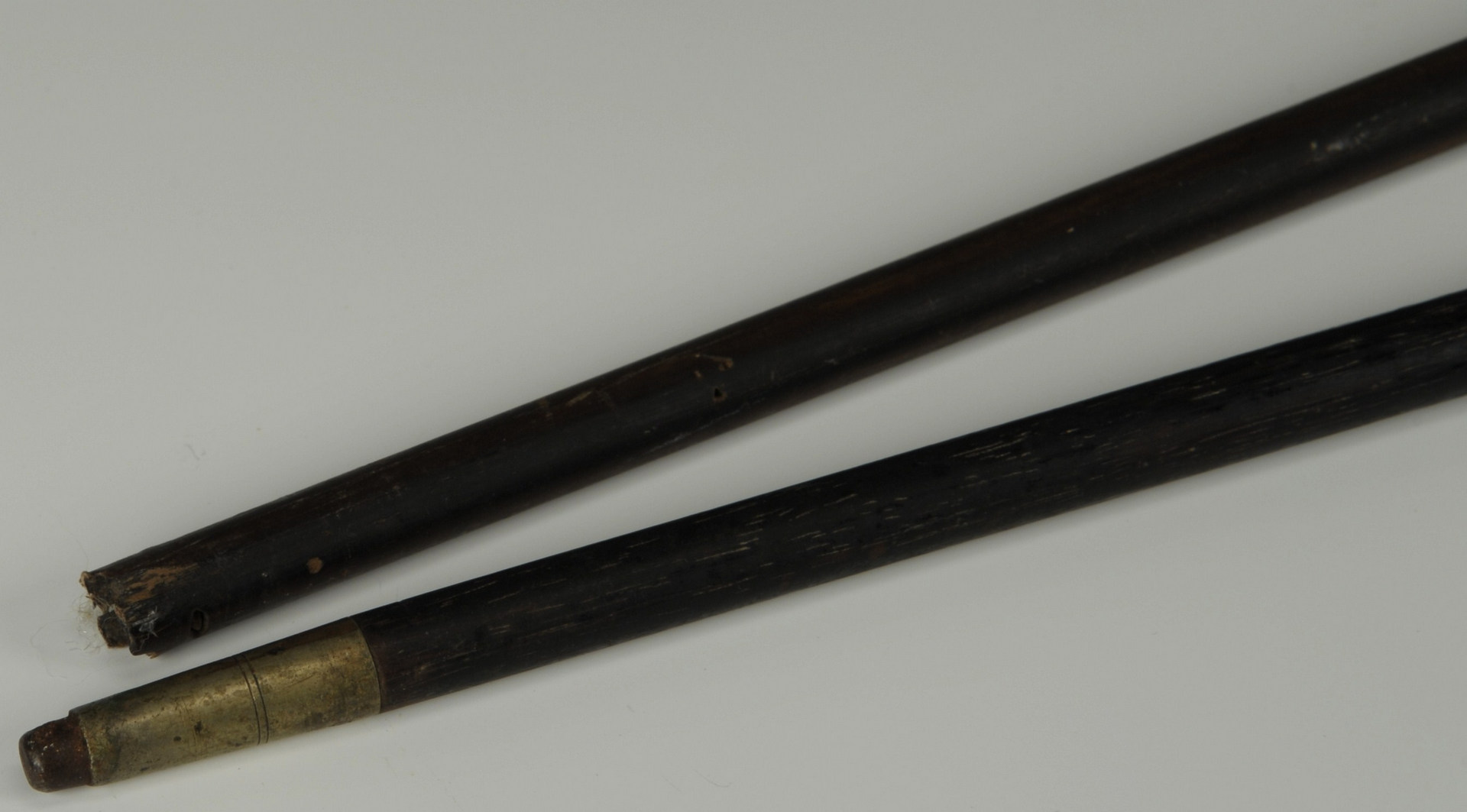 Lot 512: Two gold handled walking sticks, 19th c.