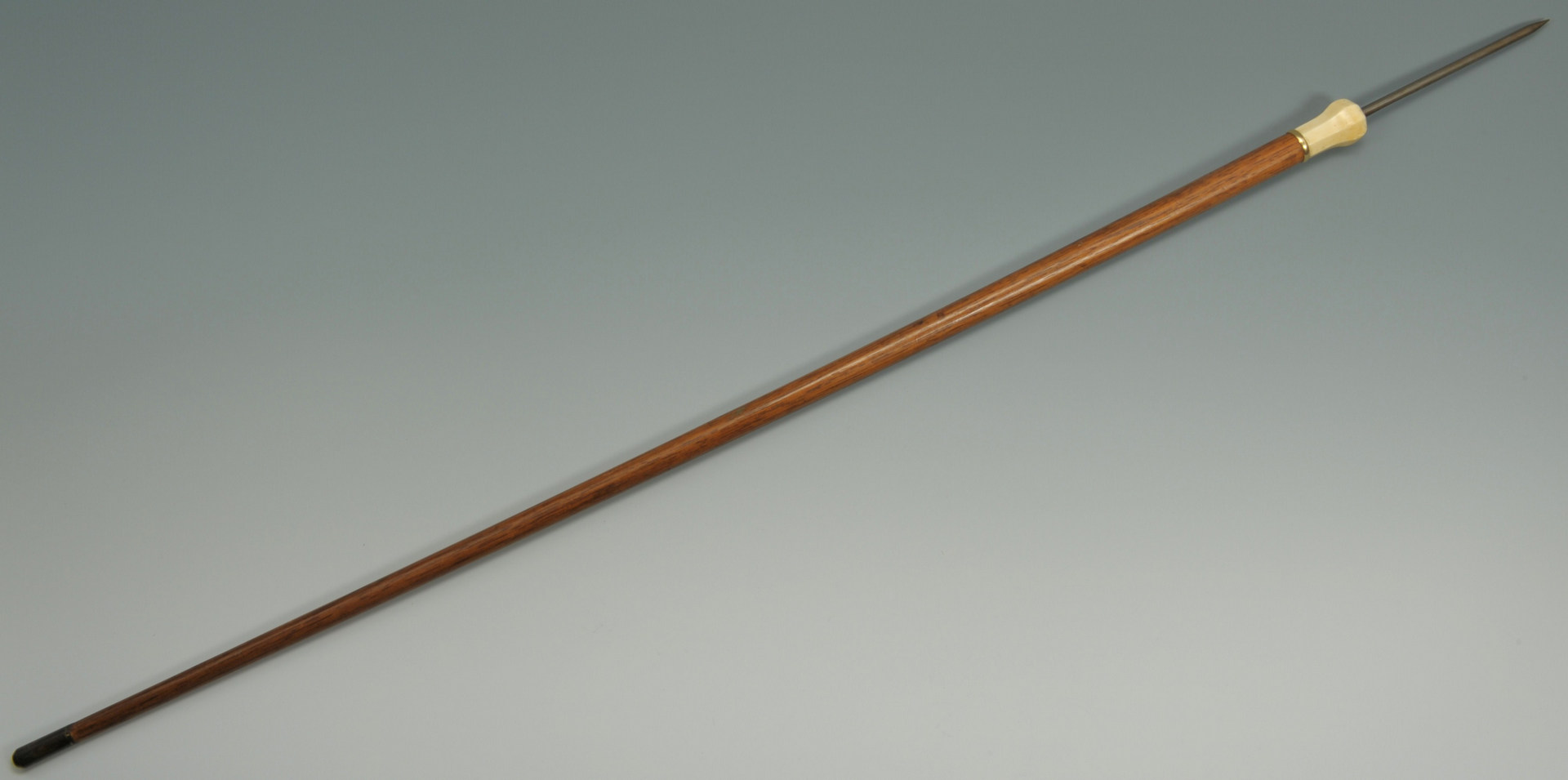Lot 515: Rare Flick Stick Cane with Ivory Handle