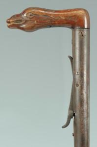 Lot 517: Day's Patent .56 Caliber Gun Cane